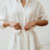 Camisa Candy Blanca de Chiribita de cerca