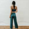 conjunto de top y pantalon Greta Verde de Chiribita por detras