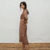 Vestido Pipa estampado de Chiribita de lado
